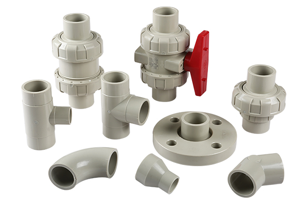 PPH butt welding ball valves and fittings