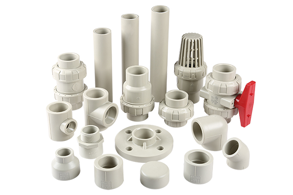 PPH valves, fittings and pipes